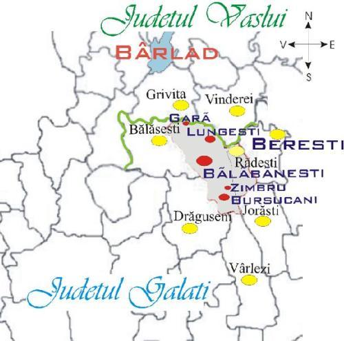 Componența și vecinii comunei Bălăbănești