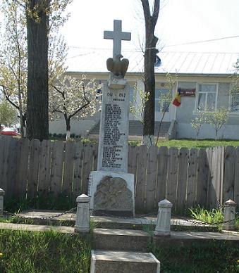 Monumentul Eroilor Bursucani - Unul din proiectele pe care preotul Gaciu l-a susținut